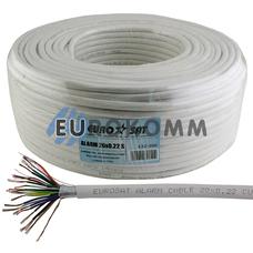 Сигнальный кабель EUROSAT 20x0.22 CU в экране белый 100м