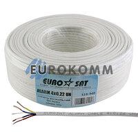 Сигнальный кабель EUROSAT 4x0.22 CCA без экрана белый 100м
