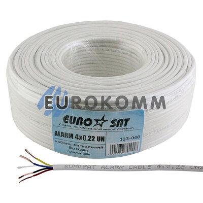 Сигнальный кабель EUROSAT 4x0.22 CCA без экрана белый
