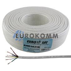Сигнальный кабель EUROSAT 6x0.22 CCA без экрана белый 100м
