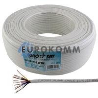 Сигнальный кабель EUROSAT 10x0.22 CCA без экрана белый 100м