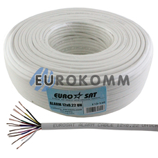 Сигнальный кабель EUROSAT 12x0.22 CCA без экрана белый 100м