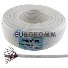Сигнальный кабель EUROSAT 14x0.22 CCA без экрана белый 100м
