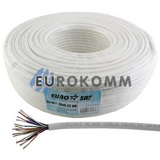 Сигнальный кабель EUROSAT 16x0.22 CCA без экрана белый 100м