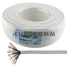 Сигнальный кабель EUROSAT 20x0.22 CCA без экрана белый 100м