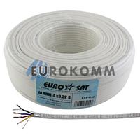 Сигнальный кабель EUROSAT 4х0.22 CCA в экране белый 100м