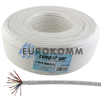 Сигнальный кабель EUROSAT 10х0.22 CCA в экране белый 100м