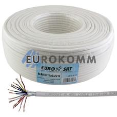 Сигнальный кабель EUROSAT 12х0.22 CCA в экране белый 100м