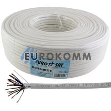 Сигнальный кабель EUROSAT 14х0.22 CCA в экране белый 100м