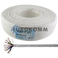 Сигнальный кабель EUROSAT 16х0.22 CCA в экране белый 100м