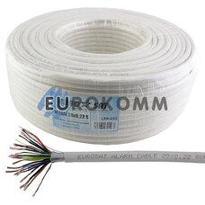 Сигнальный кабель EUROSAT 20х0.22 CCA в экране белый 100м