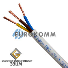 ПВС 3х2.5 мм² ЗЗЦМ белый