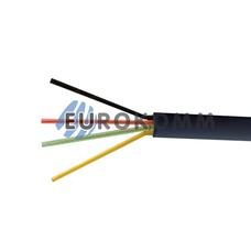 Телефонный кабель 4 жилы (6x0,12мм) чёрный 100м