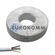 Телефонный кабель 4 жилы (6x0,12мм) ,белый 100м