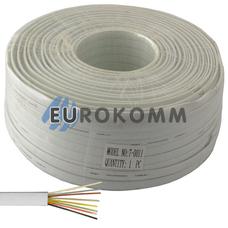 Телефонный кабель 8 жил (7x0,12мм) белый, 100м