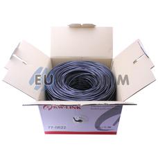"""Интернет кабель """"Витая Пара"""" UTP(PE) cat.5e 4х2x0.48 CCA KW-Link наружный 305м"""