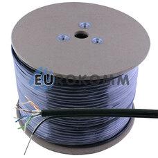 """Интернет кабель """"Витая Пара"""" UTP(PEM) cat.5e CCA KW-Link наружный с тросом 305м"""