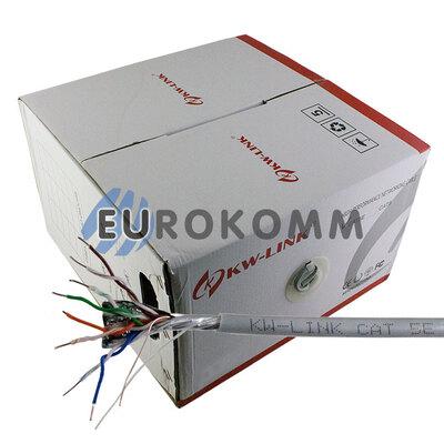 """Интернет кабель """"Витая Пара"""" FTP cat.5e CU  4x2x0.50CU KW-Link 305м"""