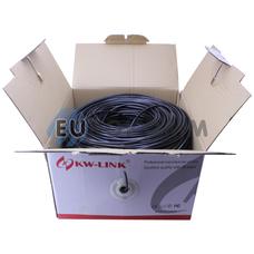 """Интернет кабель """"Витая Пара"""" FTP(PE) cat.5e 4х2x0.48 CCA KW-Link наружный 305м"""