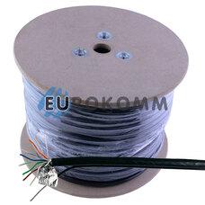 """Интернет кабель """"Витая Пара"""" FTP(PEM) cat.5e CCA KW-Link наружный c тросом 305м"""