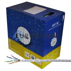 """Интернет кабель """"Витая Пара"""" UTP cat.5e 4x2x0.51 CU EUROSAT 305м"""