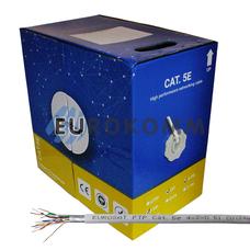 """Интернет кабель """"Витая Пара"""" FTP cat.5e 4x2x0.51 CU EUROSAT 305м"""