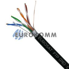 """Интернет кабель """"Витая Пара"""" FTP(PE) cat.5e 4x2x0.50 CU EUROSAT наружный 305м"""