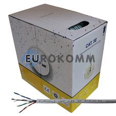 """Интернет кабель """"Витая Пара"""" UTP cat.5e 4x2x0.51 CCA EUROSAT 305м"""