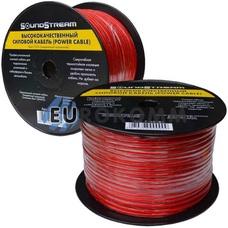 Низковольтный кабель питания Sound Stream 1x8.0мм²  CCA прозрачно-красный 100м