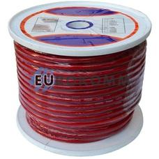 Низковольтный кабель питания Prosound 1x20мм² CU прозрачно-красный 50м