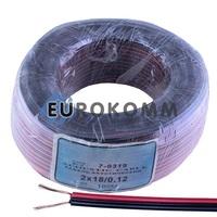 Низковольтный кабель питания Sound Star 2x0.22мм²  CU красно-чёрный 100м
