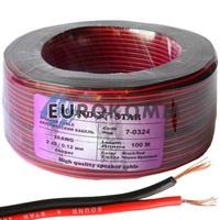 Низковольтный кабель питания Sound Star 2x0.10мм²  CU красно-чёрный 100м