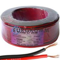 Низковольтный кабель питания Sound Star 2х0.16мм²  CU красно-чёрный 100м