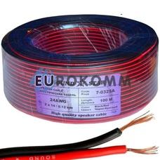 Низковольтный кабель питания Sound Star 2x0.16мм²  CCA красно-черный 100м