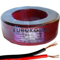 Низковольтный кабель питания Sound Star 2x0.22мм²  CCA красно-черный 100м