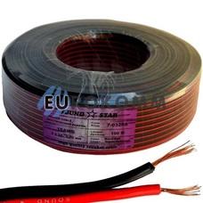 Низковольтный кабель питания Sound Star 2x0.75мм²  CCA красно-черный 100м