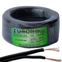 Низковольтный кабель питания Sound Star 2x0.10мм²  CCA черный 100м