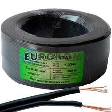 Низковольтный кабель питания Sound Star 2x0.16мм²  CU чёрный 100м