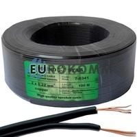Низковольтный кабель питания Sound Star 2x0.22мм²  CU чёрный 100м