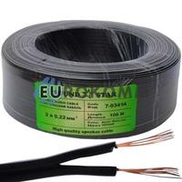Низковольтный кабель питания Sound Star 2x0.22мм²  CCA черный 100м