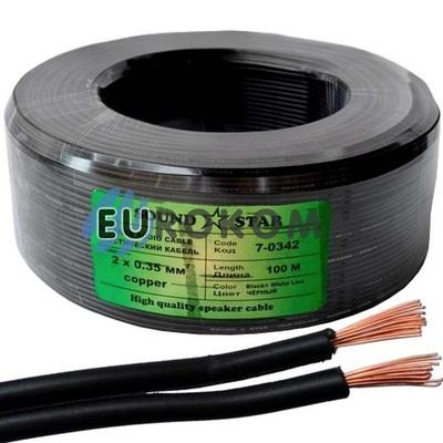 Низковольтный кабель питания Sound Star 2x0.35мм²  CU чёрный 100м