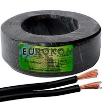 Низковольтный кабель питания Sound Star 2x0.35мм²  CCA черный 100м