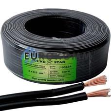 Низковольтный кабель питания Sound Star 2x0.50мм²  CCA черный 100м