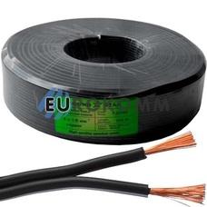 Низковольтный кабель питания Sound Star 2x1.0мм²  CU чёрный 100м