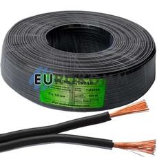 Низковольтный кабель питания Sound Star 2x1.0мм²  CCA черный 100м