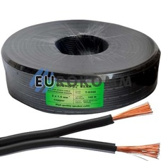 Низковольтный кабель питания Sound Star 2x1.5мм²  CU чёрный 100м