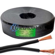 Низковольтный кабель питания Sound Star 2x2.0мм²  CCA черный 100м