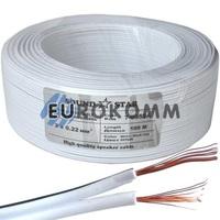 Низковольтный кабель питания Sound Star 2x0.22мм²  CCA белый 100м