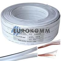 Низковольтный кабель питания Sound Star 2x0.35мм²  CCA белый 100м