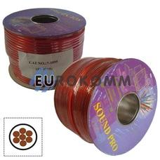 Низковольтный кабель питания Sound PRO JY-3315 1x3.0мм²  OFC CU прозрачно-красный 100м